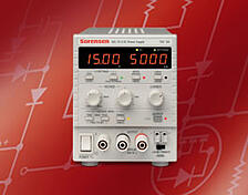 The Sorensen XEL benchtop DC power supplies are user-friendly, supply up to 180W, and have advanced digital features.